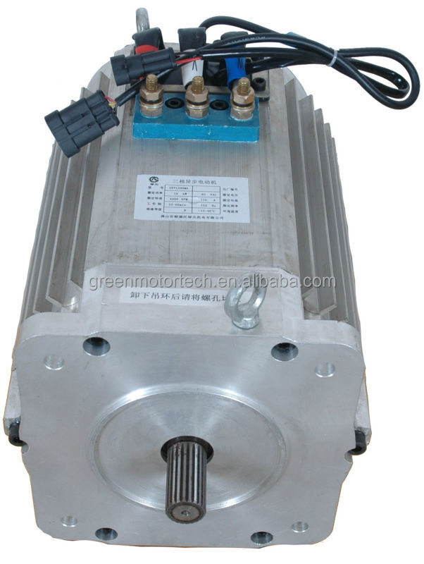 96v 10kw 4500rpm asynchronous motor three phase brushless for Ac or dc motor for electric car