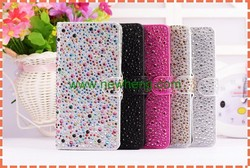 Bling Crystal Rhinestone Wallet Leather Stand Case For iPhone 6 6s 6s plus