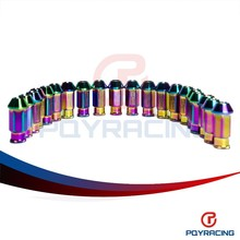 PQY STORE-NEO CHROME D1 LIGHT WEIGHT WHEEL RACING LUG NUTS P:12*1.5 L:50mm (20pcs/set) WHEEL NUTS