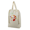 2015 Top quality cotton tote shopping bag with drawstrings, cotton drawstring bag with handles, handled cotton drawstring bag
