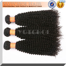 China Supplier No Tangle No Shedding Virgin Brazilian Kinky Curly Double Weft Hair