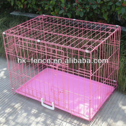 "48"" 3 Door Folding Suitcase Decorative Dog Kennel With Metal Pan"