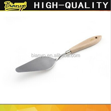 BN-MSYP- 16 wholesale wooden handle stainless steel painting palette oil detail knife set