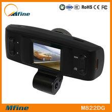 Car DVR security camera with sim card with dual lens