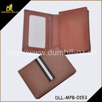 2015 Fashion Cheap Leather Business Card Holder with ID Window