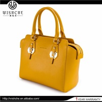 Wishche Highest Quality New Style Leather Latest College Girls Shoulder Bags Wholesale Handbag Manufacturer China W060
