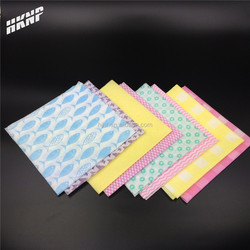 0214 High Quality dyed kitchen nonwoven Spunlace wipes