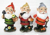 polyresin small gnome figurines,2015 high quality gnome statues