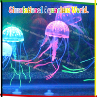 Glowing Effect jelly fish aquaria,silicon aquarium ornaments wholesale