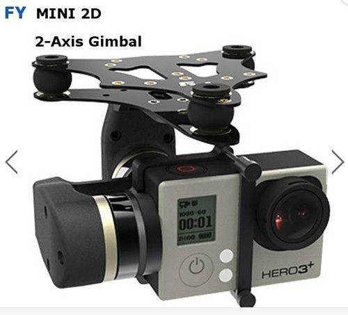 Uav feiyu Tech exercice MiNi2D deux axes Brushless cardan pour Gopro4 Gopro3 + Gopro3 caméra Sport toy drone