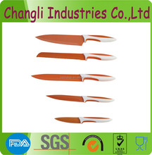 Non-Stick Coating Colourful Kitchen Knives/multi color knife set
