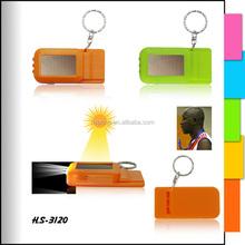 Promotion plastic led keychain light with metal keyring