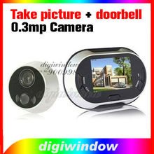 "Digital Door Peephole Viewer 3.5"" LCD,take picture+doorbell+0.3MP camera (DW-S11)"