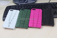 2014 New design animal skin top-grade popular smart leather case for iphone5/5s/5c