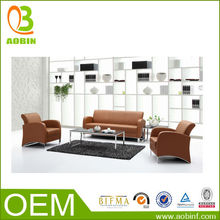 High -Class Modern Designs Alu Frame Leather Office Sofa