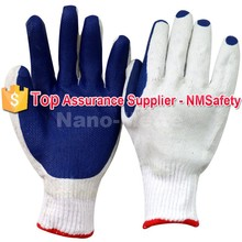 NMSAFETY blue rubber palm working safety industrial gloves