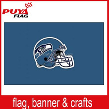 wholesale hot sell screen printing 75D polyester 3x5ft custom seahawks flag, NFL flag for celebration