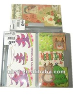 2014 Hotsale Paper Greeting Card,paper card with gel pen,cards with blister for Christmas or Spring Festivals Occasions