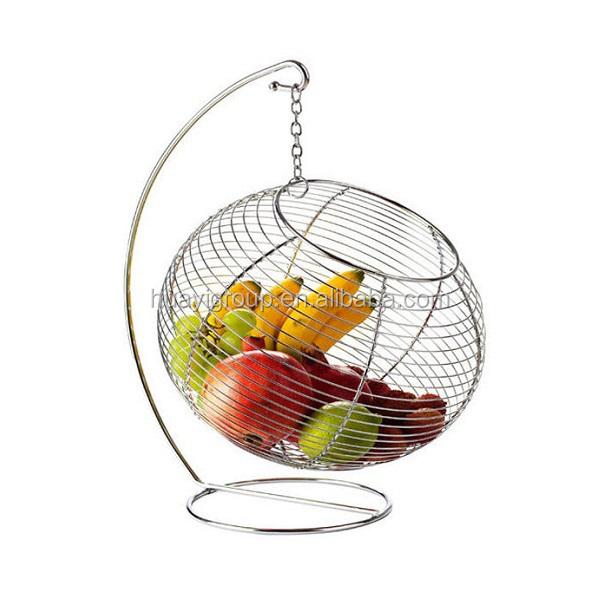 Fruit Tree Bowl Banana Hanger Wire Basket Rack Kitchen Dining ...