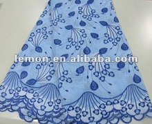 navy blue swiss cotton voile lace fabric