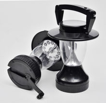 12 leds hand crank solar lantern for camping use , solar lantern led for home and outdoor