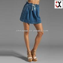 2015 latest fashion denim skirt for hot lady jean short skirts (JXD26821)