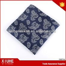 2015 new navy jacquard fashion handkerchief for men