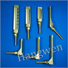 Straight & Angle Industrial golden glass thermometer