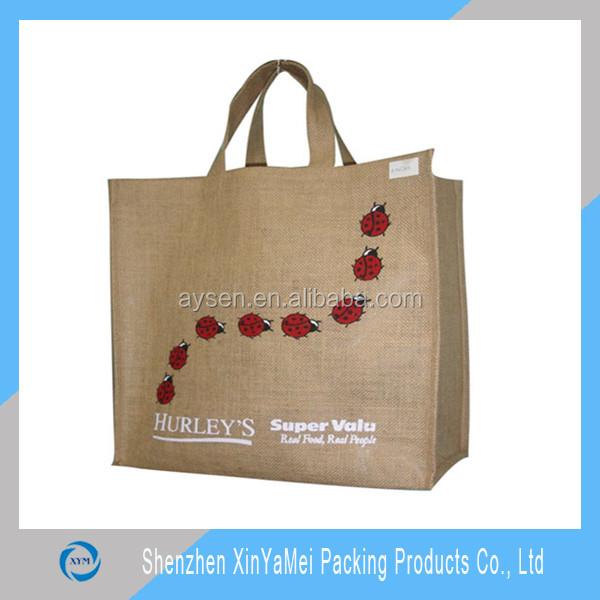 Cinto alça de saco de algodão / sacolas de algodão / saco de algodão com Gusset completo