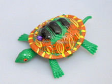 4 inch Wholesale Educational Green Cute Pull Thread Turtle Ship Toy