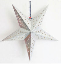 Lucky silver star paper lantern