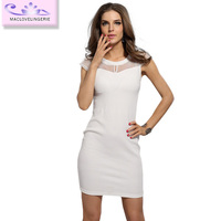 Summer Dress Sleeveless Lace Mini Club Sexy Sheath Girls' Fashion Dress