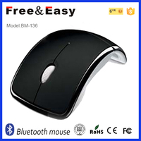 cheap high quality arc foldable 3.0 bluetooth mouse for laptop