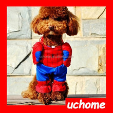 UCHOME 2015 New design wholesale Halloween Spiderman costume cosplay cute costume for pet dog clothes