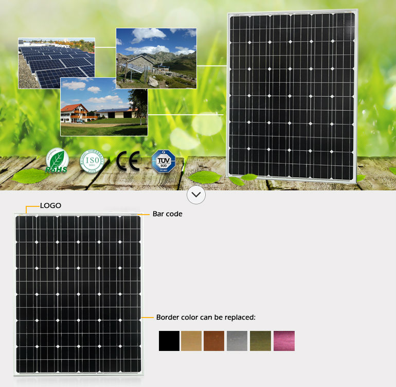 High efficiency 200w solar panels with mono BOSCH cells