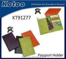 Leather PU passport case with passport holding,travel passport case