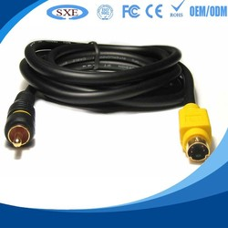 retractable 8 pin female vga to rca s-video cable