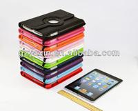 Back cover for ipad mini case / pu leather case for ipad mini cover / litchi armor for ipad mini case