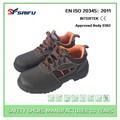 de trabajo de protección sf8221 negro de corte bajo de lujo zapatos de seguridad