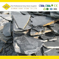 Irregular shaped slate pavers ,landscaping nature black slate stone