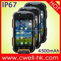 4.0 Inch Gorilla Glass IPS Touch Screen MTK6582 Quad core 4500mAh Big Battery Dual SIM OINOM LMV9 IP67 Waterproof Rugged Phone