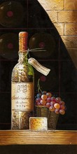 Pure Hand-painted European Red Wine Glass Oil Painting
