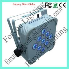 Remote control exported 9*12w rgbwa 5in1 leds flat par light wash stage wedding