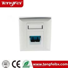 Good quality Supplier Tengfei PVC rj45 network modular fiber optic face plate