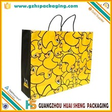 Custom printed cheap recycled brown twist kraft paper shopping bags with handles