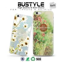 Flower Design Soft Silicone Slim Shell Mobile Phone Case for iPhone 6 6s plus for Samsung galaxy s6 edge +