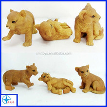 Hotsale resin real looking cat animal figurine toy