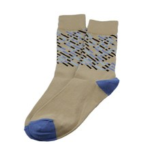 MSP-642 Hot sell knitted new jacquard design on leg mens dress socks with same color teo and heel