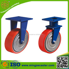 extra heavy duty industrial polyurethane on steel wheel caster