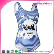 Custom Sublimation One Piece high cut swimsuit